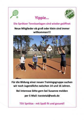Tennisspieler gesucht
