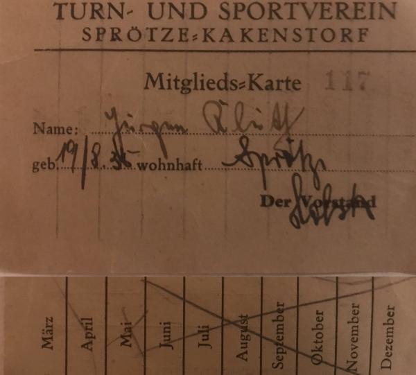 TSV Sprötze Mitgliedskarte